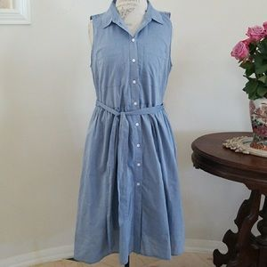 Who What Wear Chambray Dress